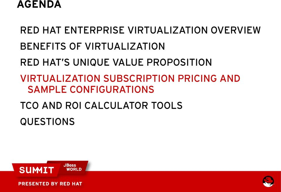 PROPOSITION VIRTUALIZATION SUBSCRIPTION PRICING AND
