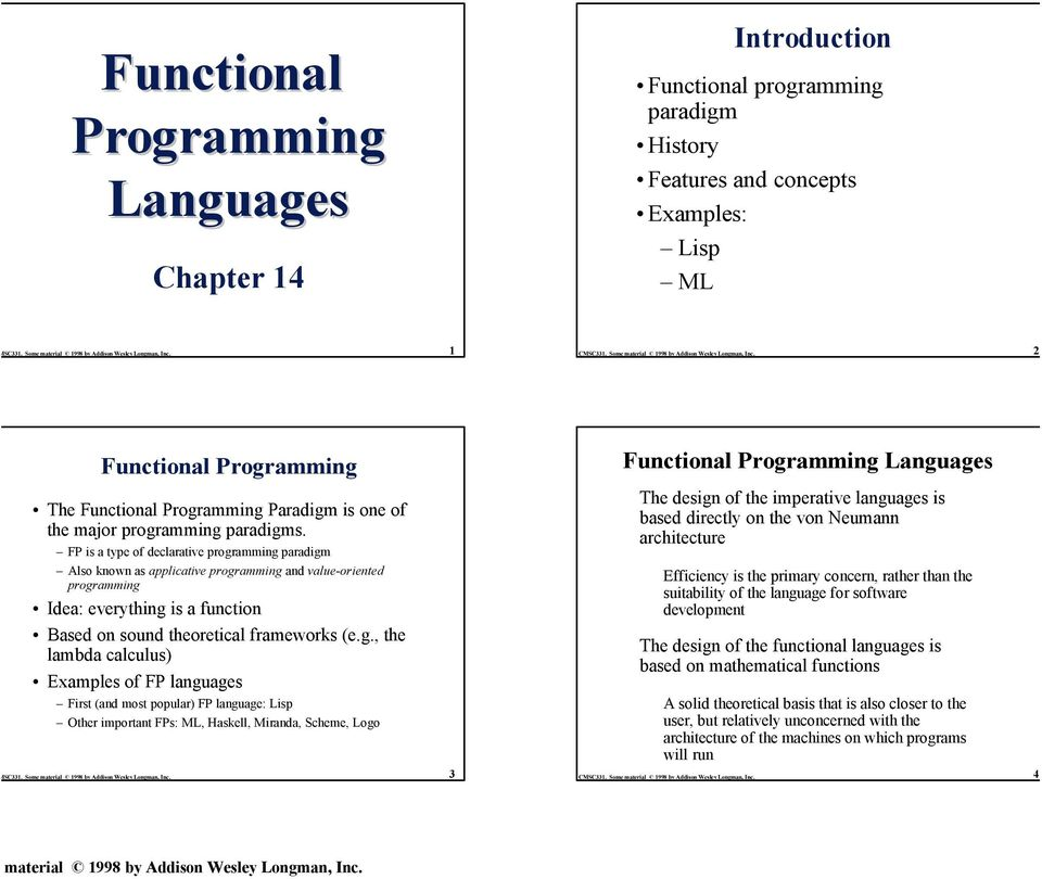 FP is a type of declarative progr