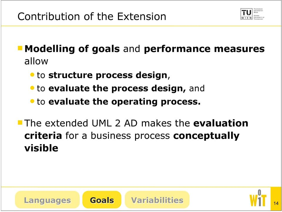 evaluate the operating process.