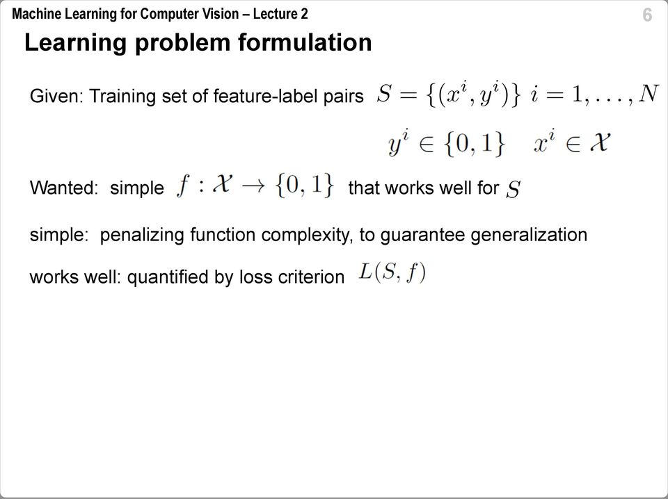 simple: penalizing function complexity, to guarantee