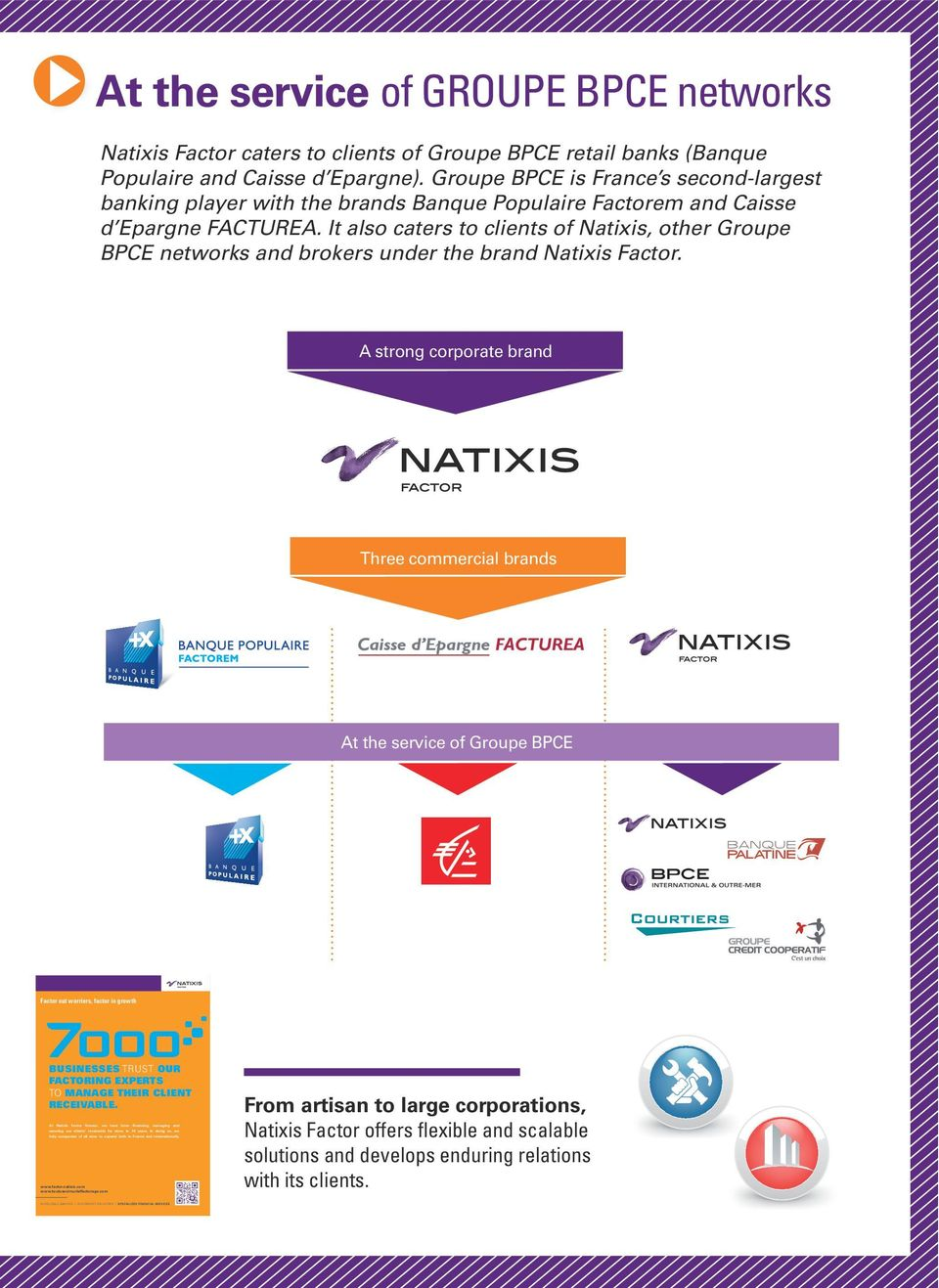 It also caters to clients of Natixis, other Groupe BPCE networks and brokers under the brand Natixis Factor.