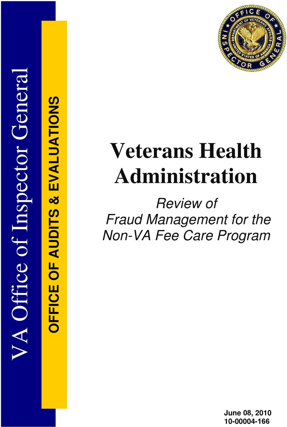 Administration Review of Fraud Management