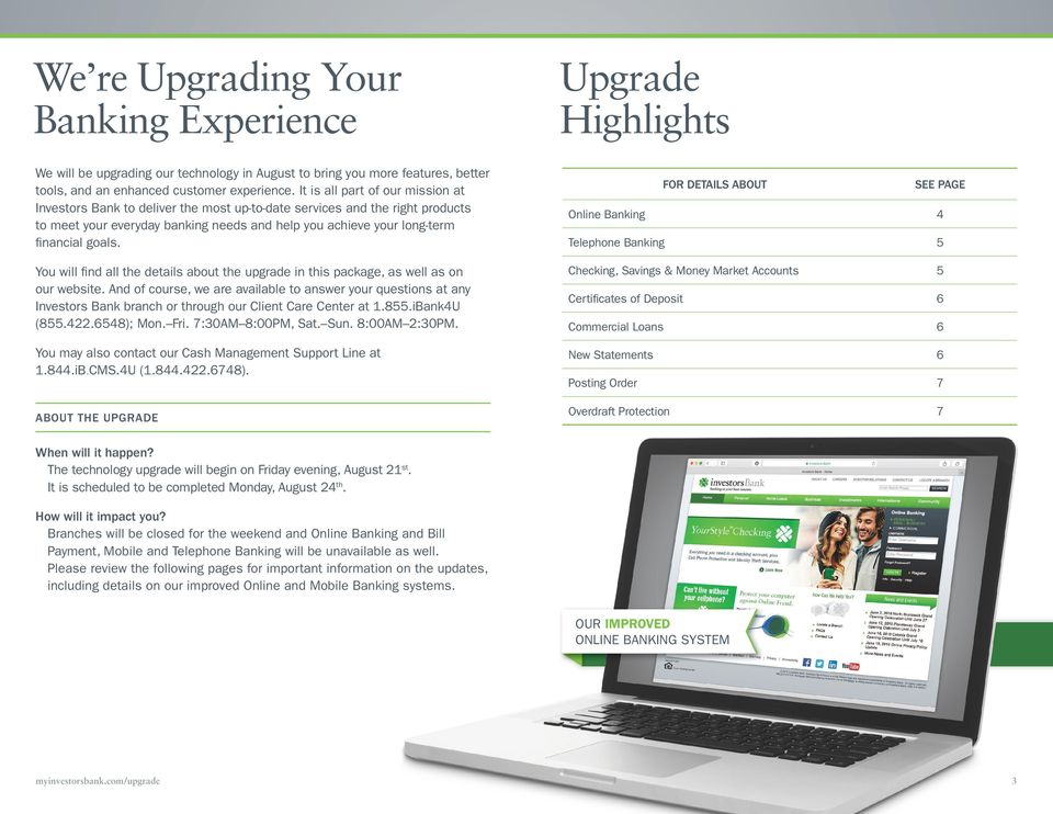 You will find all the details about the upgrade in this package, as well as on our website.