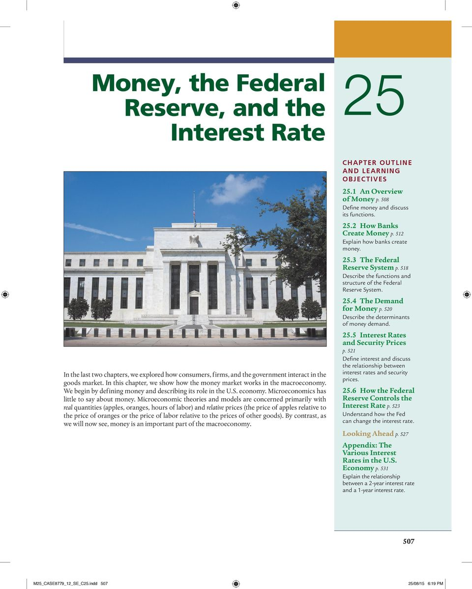 Money the federal reserve and the interest rate pdf 520 describe the determinants of money demand 255 interest rates and security prices p fandeluxe Images