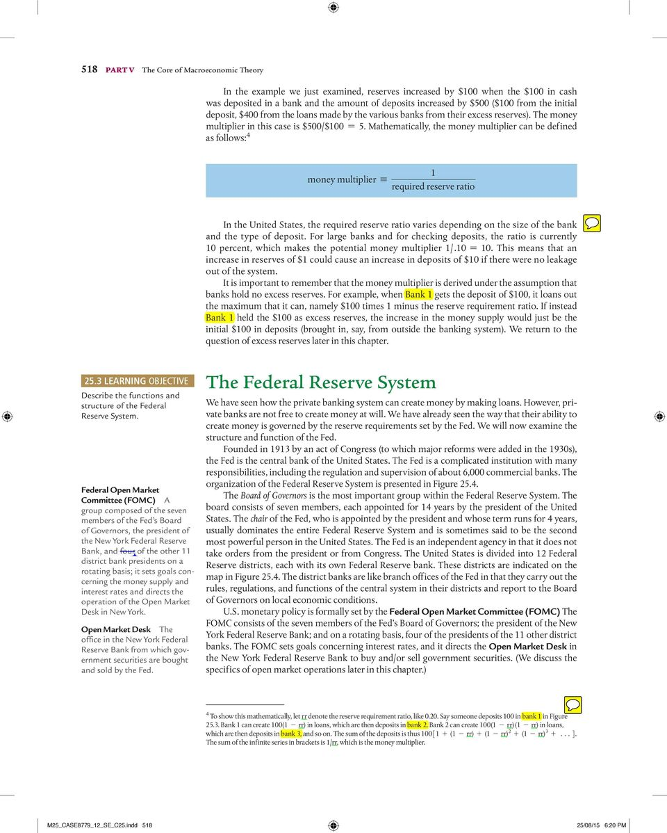 Money the federal reserve and the interest rate pdf mathematically the money multiplier can be defined as follows 4 money multiplier k 1 fandeluxe Images