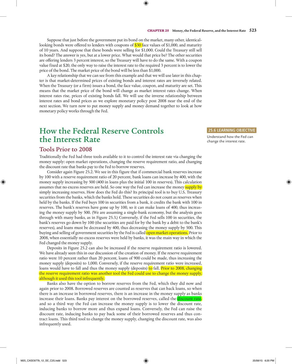 Money the federal reserve and the interest rate pdf what would that price be the other securities are offering lenders 3 percent interest fandeluxe Images