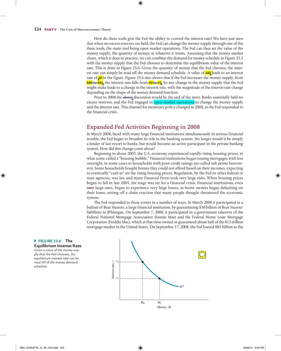 Money the federal reserve and the interest rate pdf the fed can thus set the value of the money supply the quantity of money fandeluxe Images