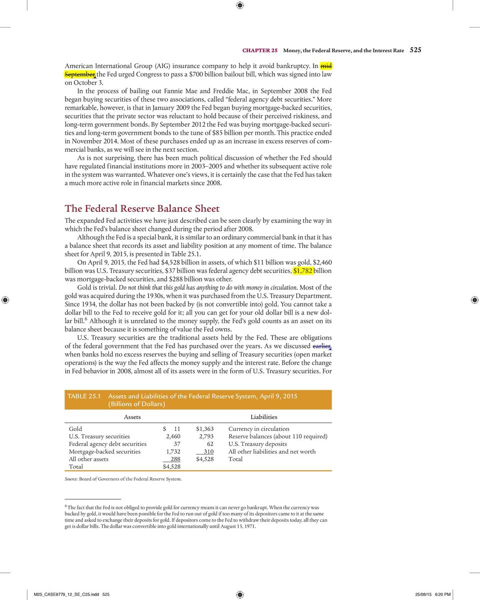 Money the federal reserve and the interest rate pdf in the process of bailing out fannie mae and freddie mac in september 2008 the fandeluxe Images
