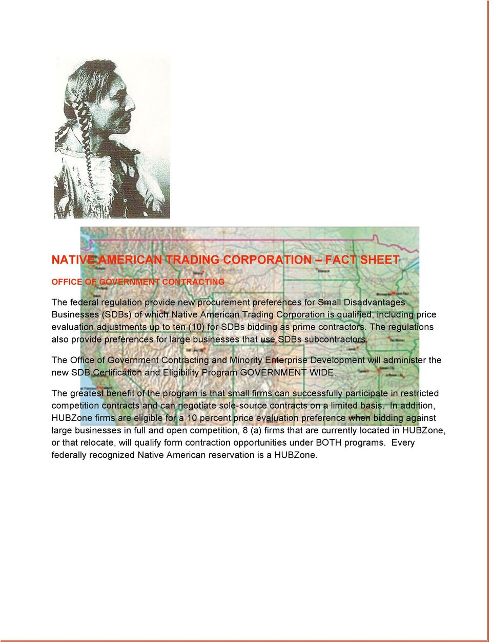 Native American Trading Corporation Business Incentives
