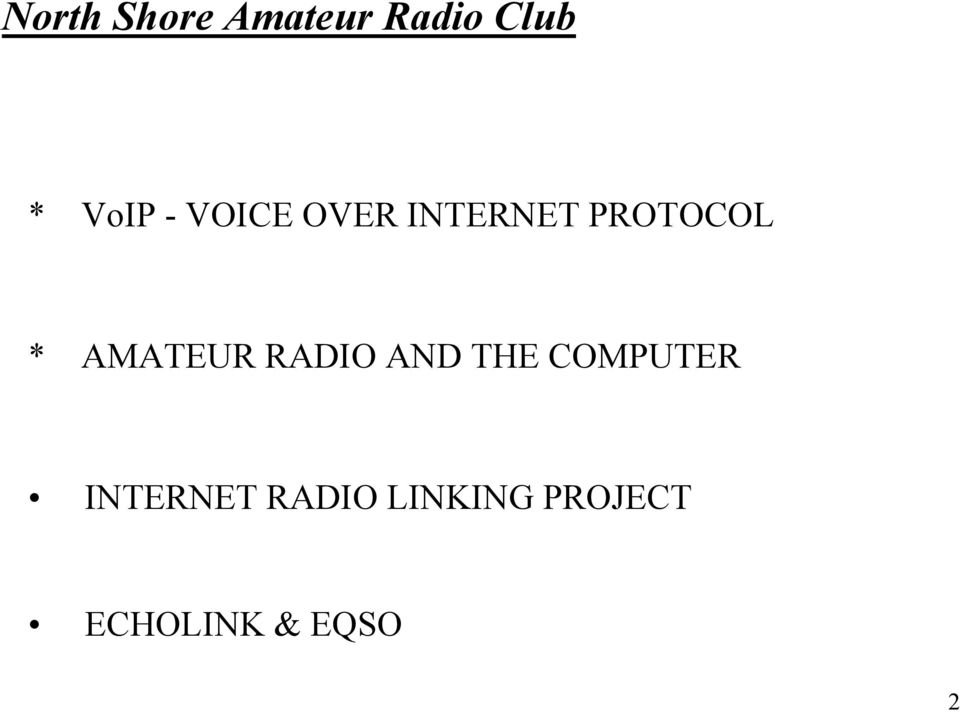THE COMPUTER INTERNET RADIO