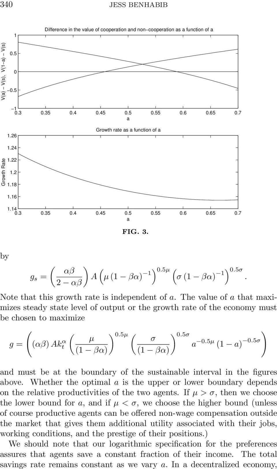 The vlue of tht mximizes stedy stte level of output or the growth rte of the economy must be chosen to mximize 0.5 0.5σ g = αβ Akt α σ 0.5 1 0.