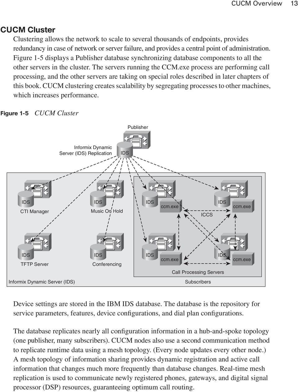exe process are performing call processing, and the other servers are taking on special roles described in later chapters of this book.