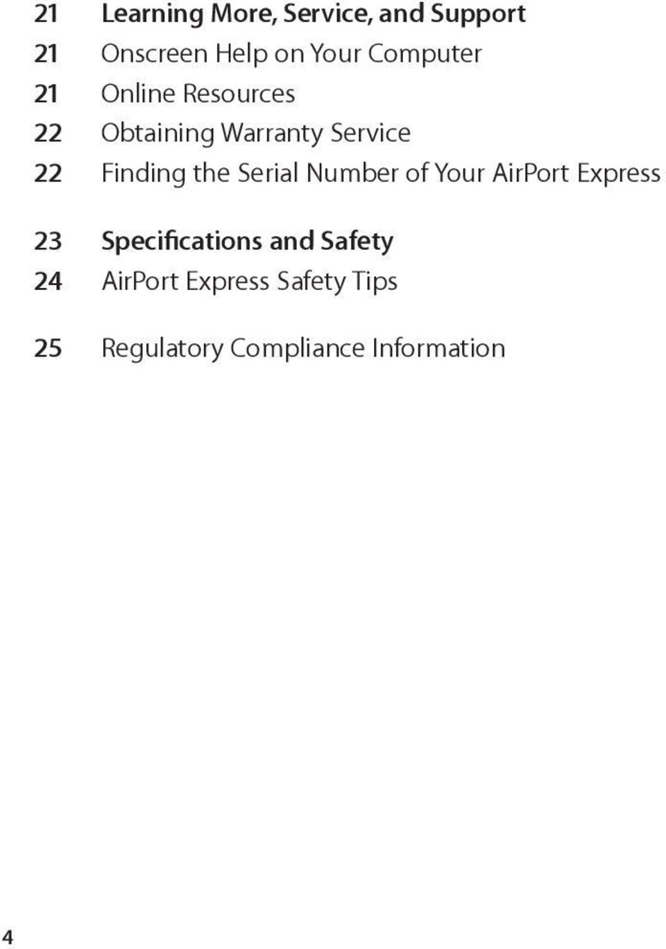 airport express serial number location