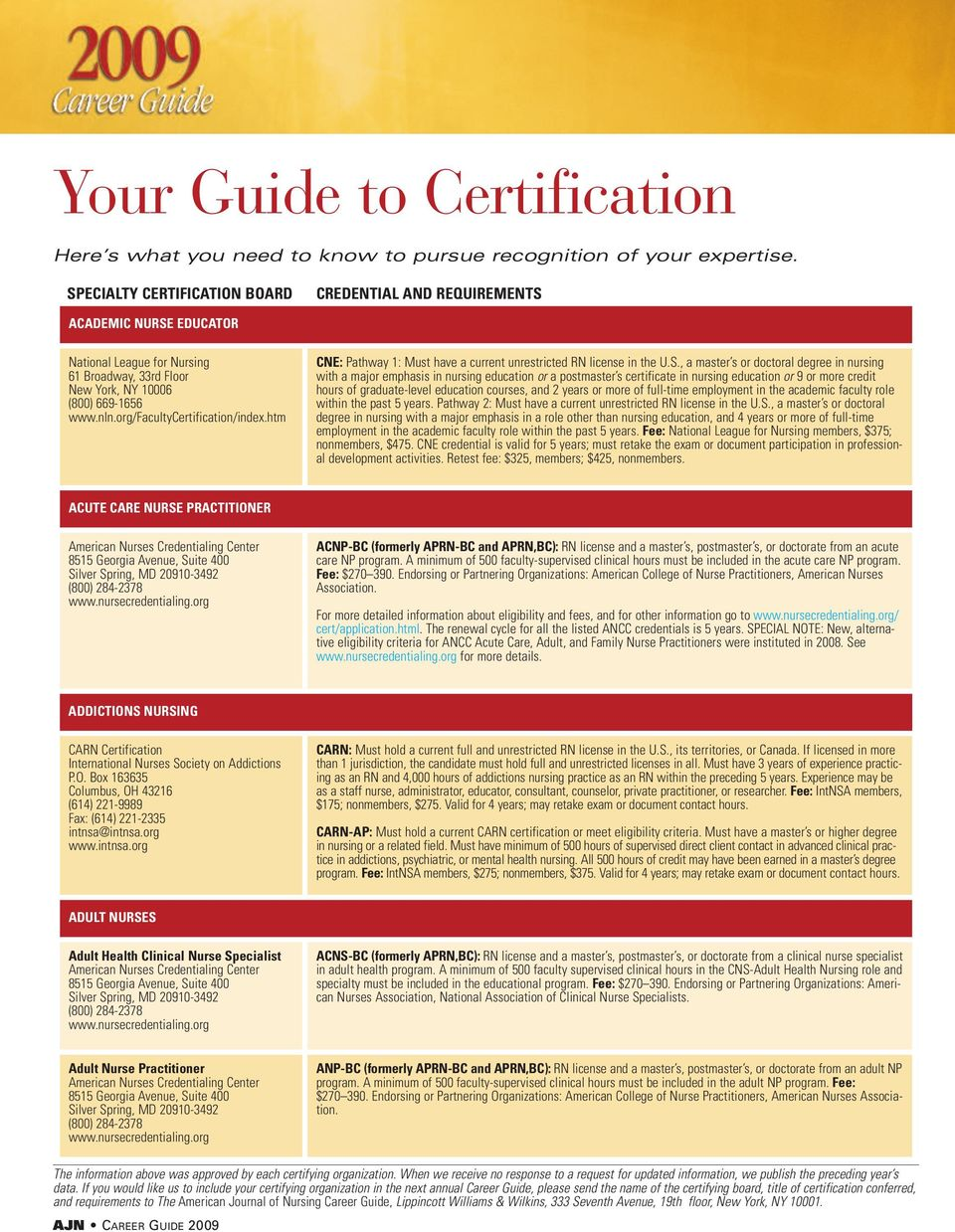 org/facultycertification/index.htm CNE: Pathway 1: Must have a current unrestricted RN license in the U.S.