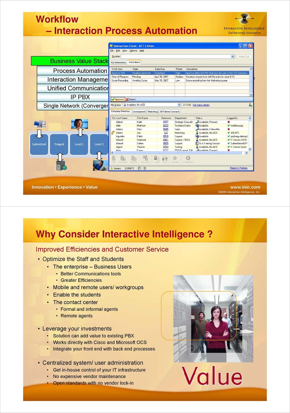 business automation tool Why Consider Interactive Intelligence?
