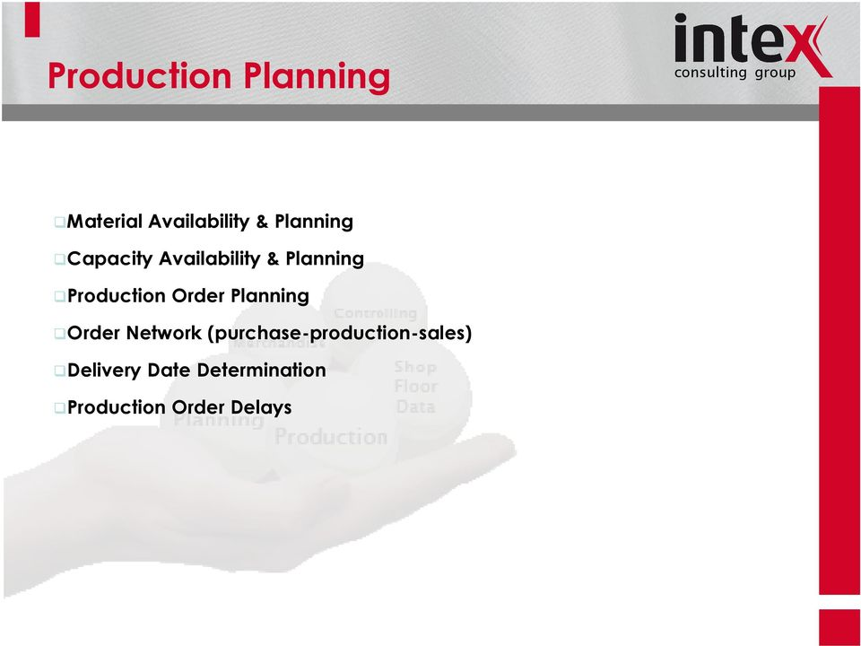 Production Order Planning Order Network