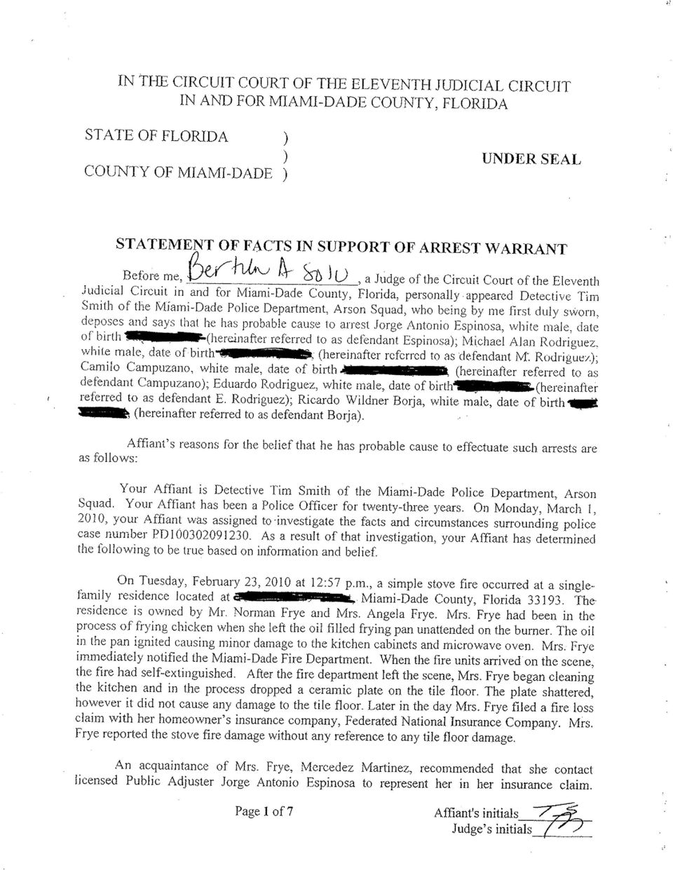 Superb Miami Dade Bench Warrant Search Part - 12: U, A Judge Of The Circuit Court Of The Eleventh Judicial Circuit In