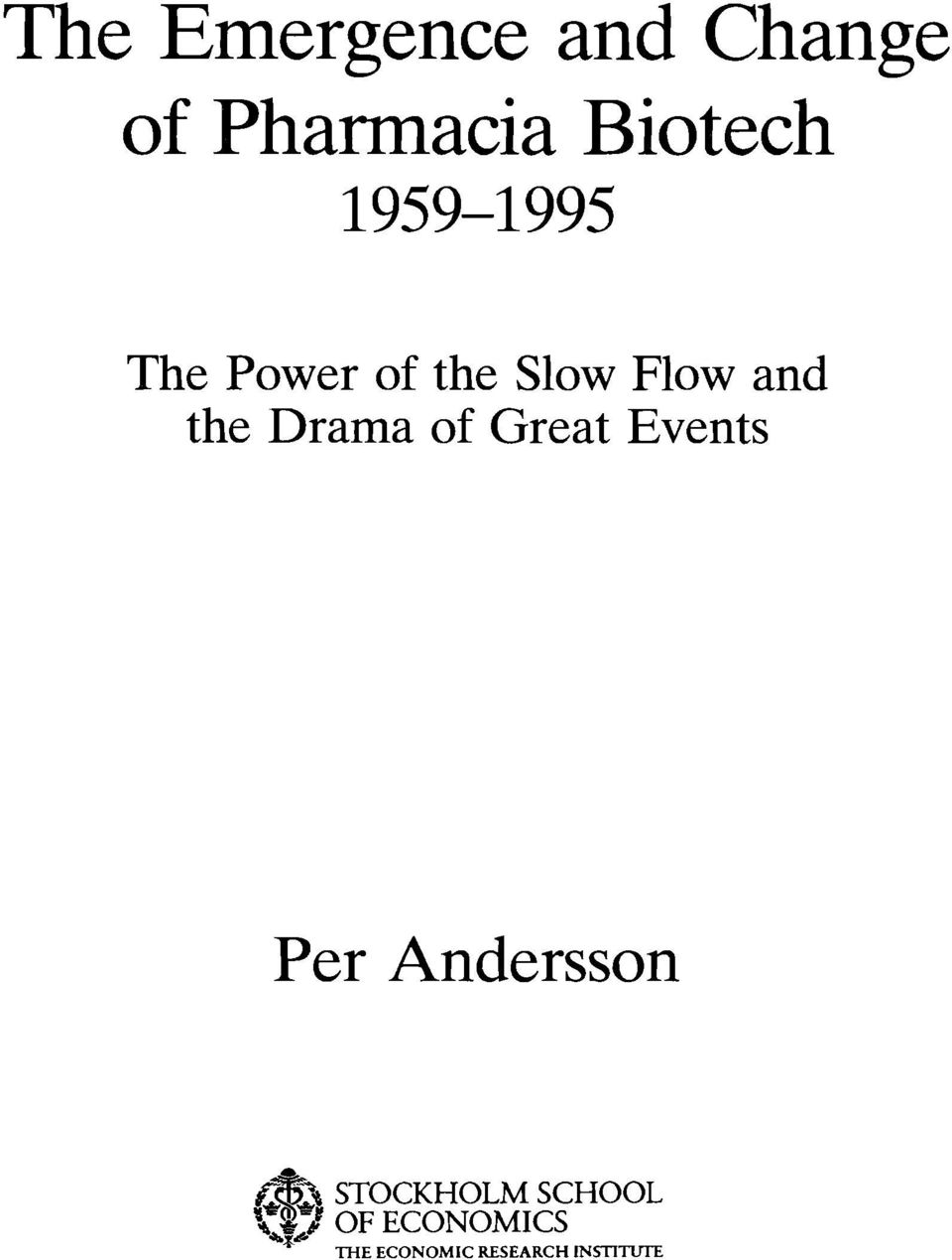 of Great Events Per Andersson.