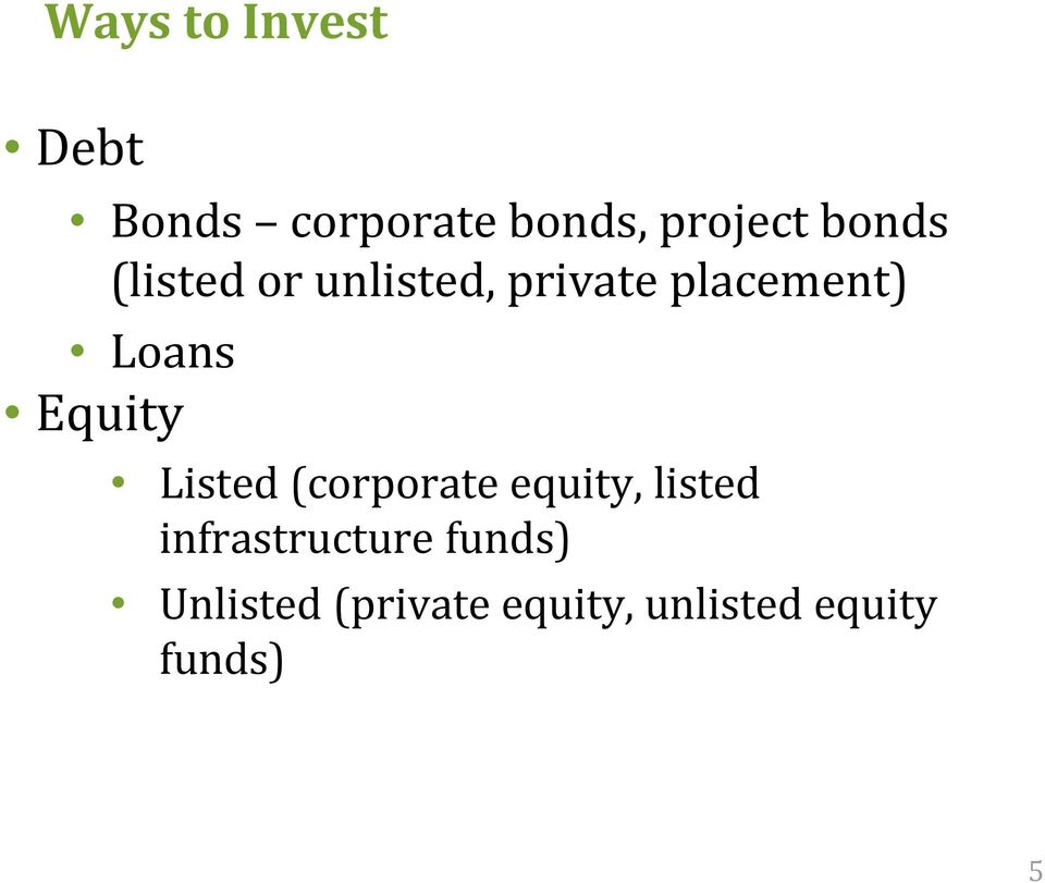 Equity Listed (corporate equity, listed