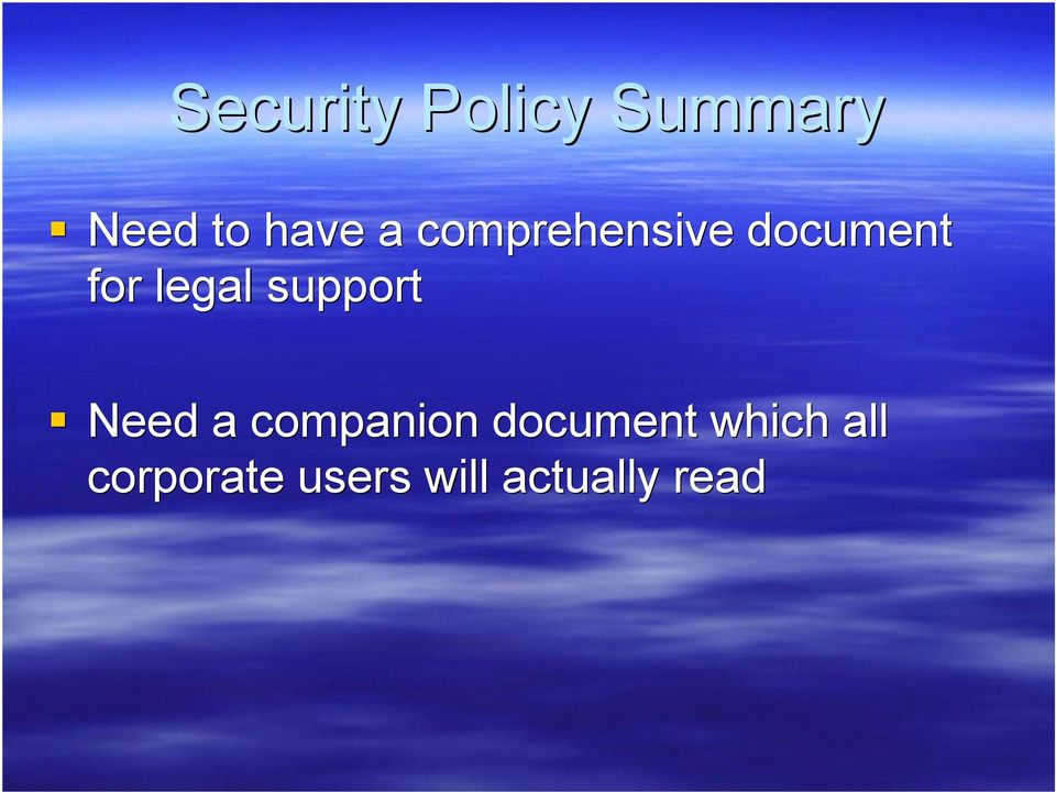 support Need a companion document