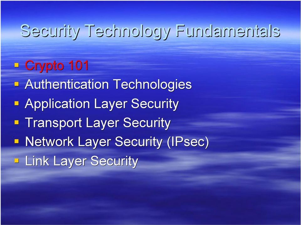 Layer Security Transport Layer Security