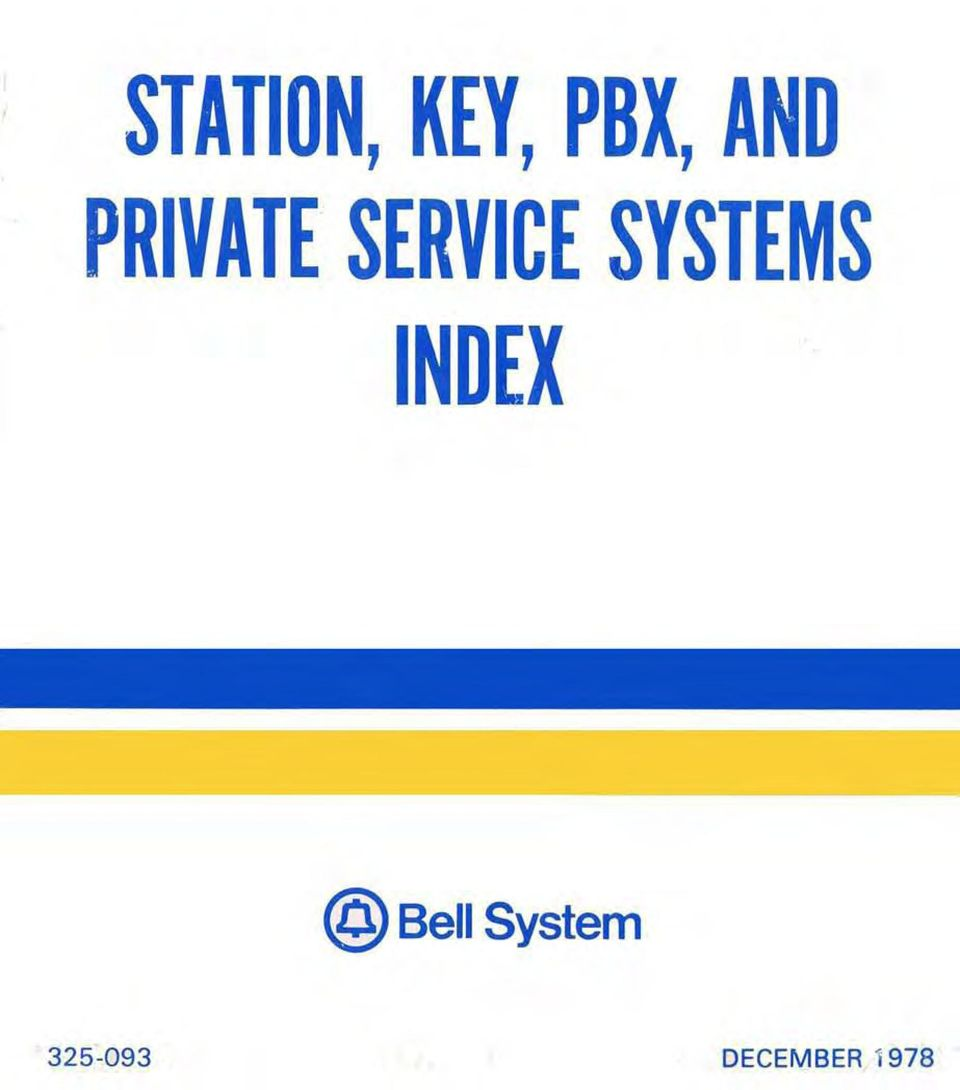 SYSTEMS INDEX @ Bell
