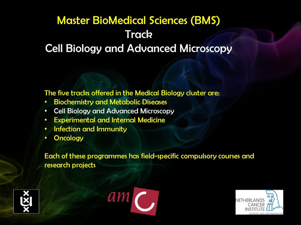 Cell Biology and Advanced Microscopy Experimental and Internal Medicine Infection and