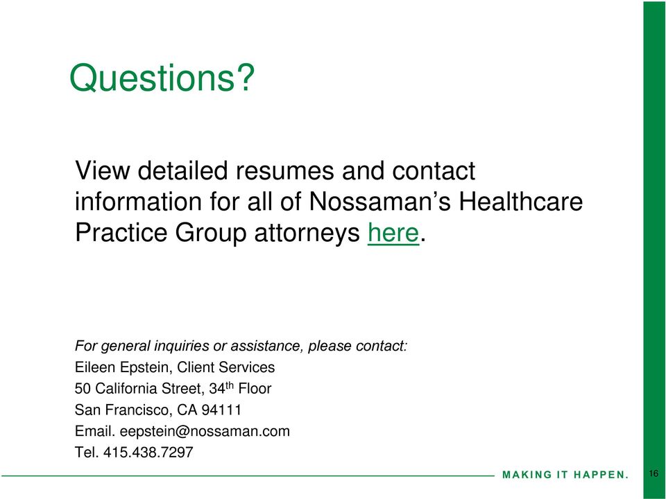 Practice Group attorneys here.