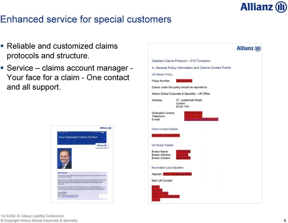 Service claims account manager - Your face for a claim -