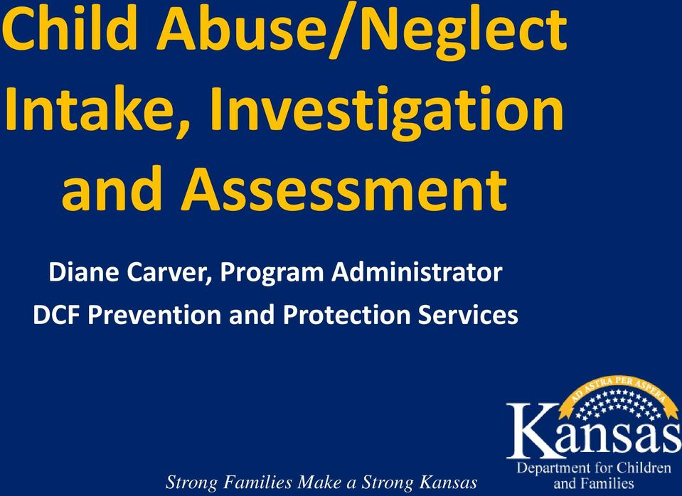 Administrator DCF Prevention and