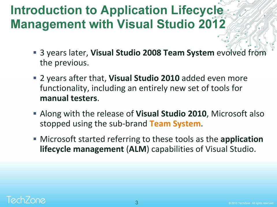 2 years after that, Visual Studio 2010 added even more functionality, including an entirely new set of tools for manual