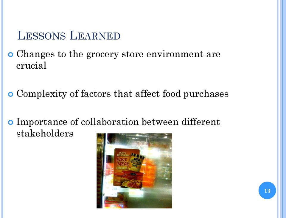 factors that affect food purchases