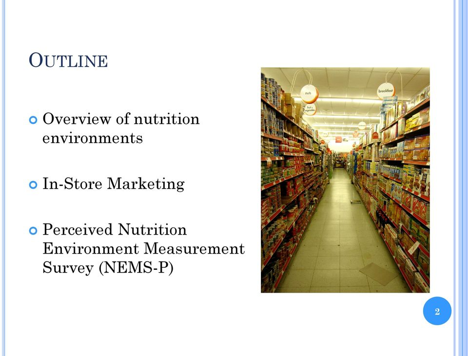 Marketing Perceived Nutrition