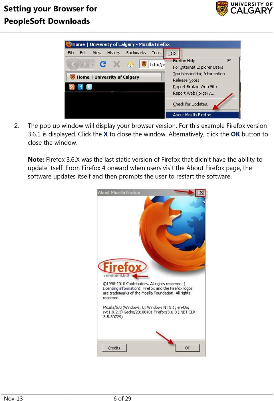 X was the last static version of Firefox that didn t have the ability to update itself.