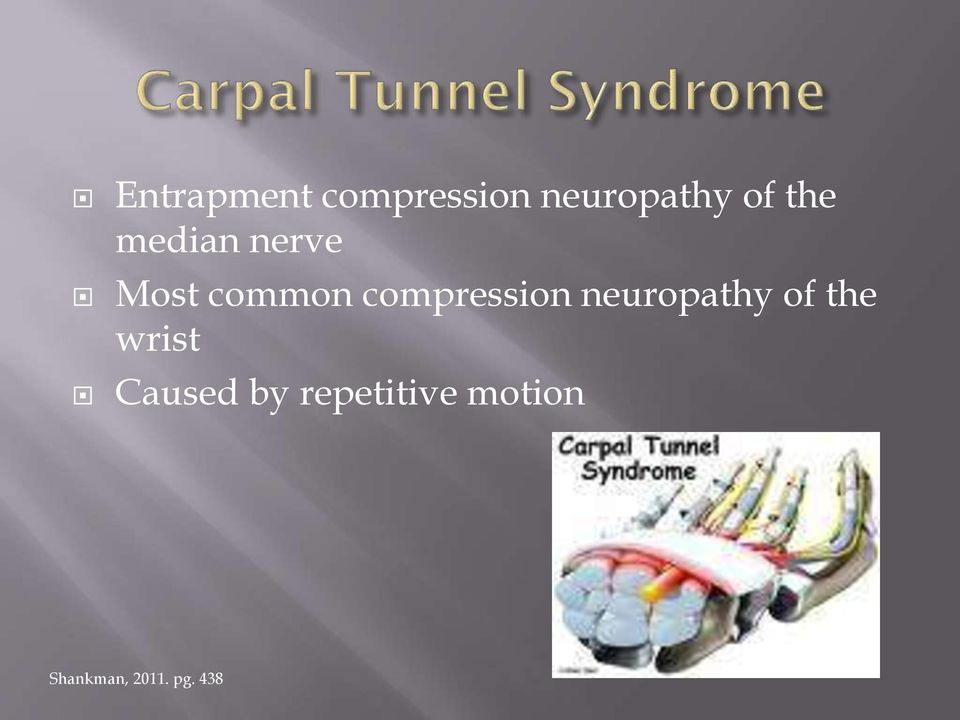 compression neuropathy of the wrist