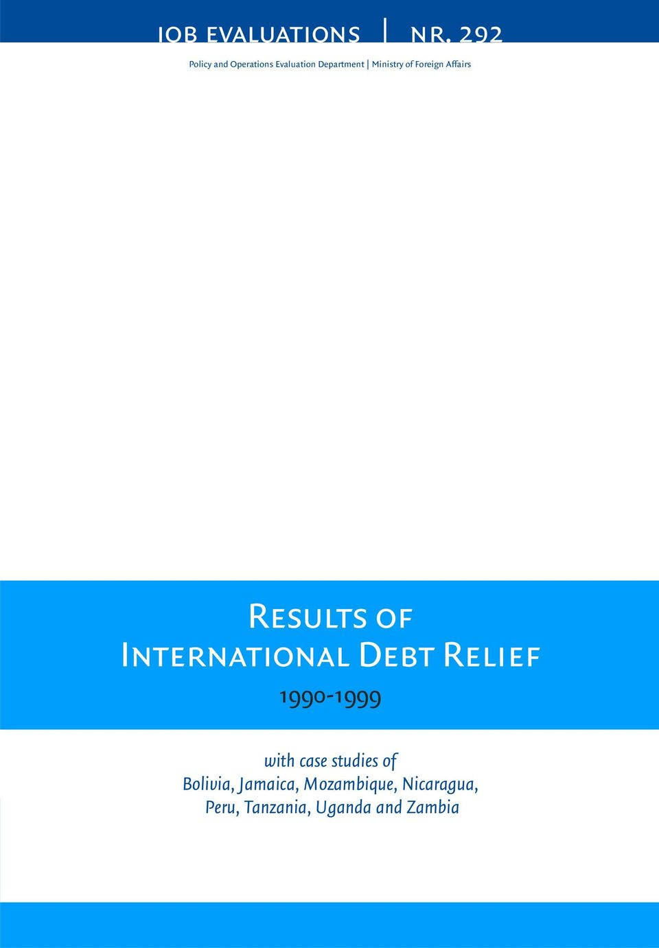 Foreign Affairs Results of International Debt Relief