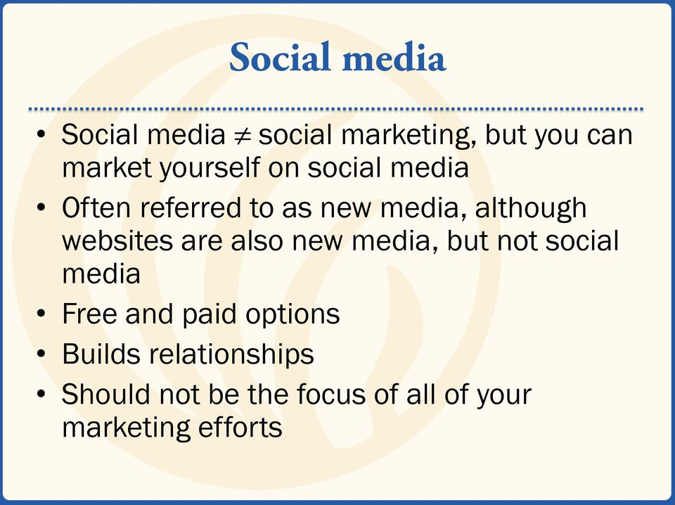websites are also new media, but not social media Free and paid