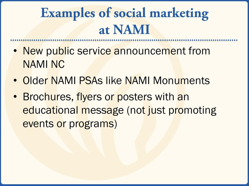 like NAMI Monuments Brochures, flyers or posters with