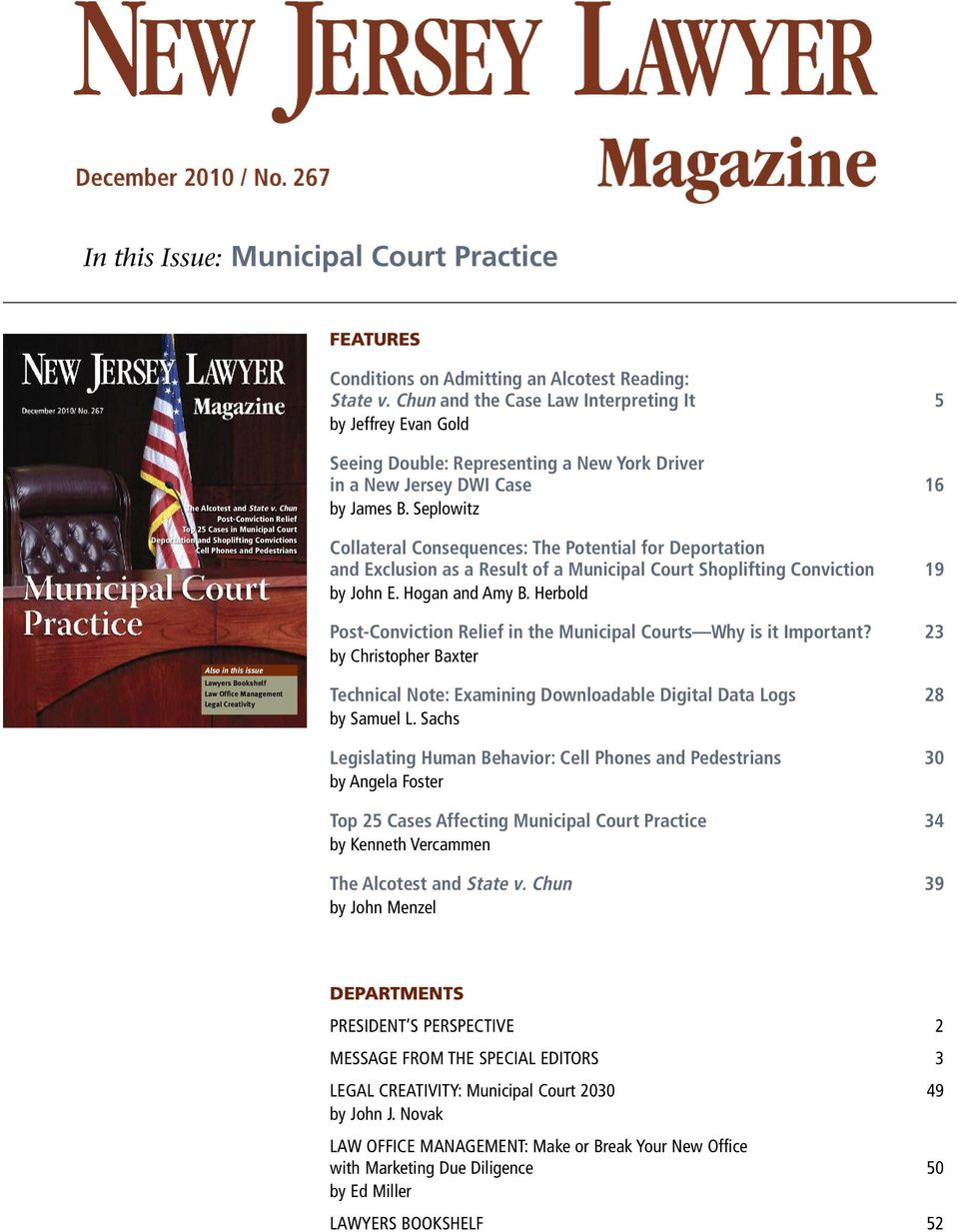 Creativity Seeing Double: Representing a New York Driver in a New Jersey DWI Case 16 by James B.