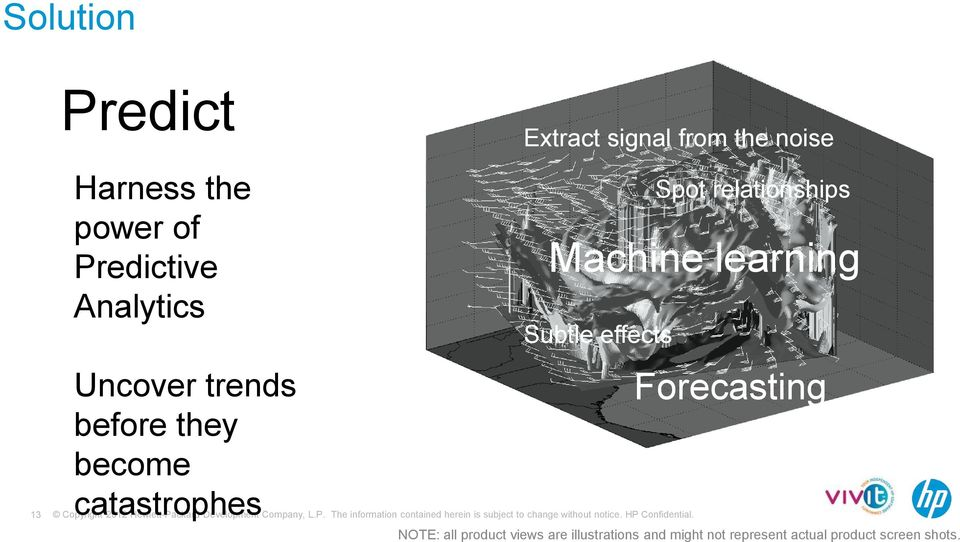 relationships Machine learning Subtle effects Forecasting NOTE: all product