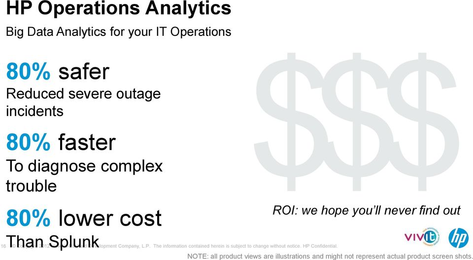 80% lower cost Than Splunk ROI: we hope you ll never find out NOTE: all