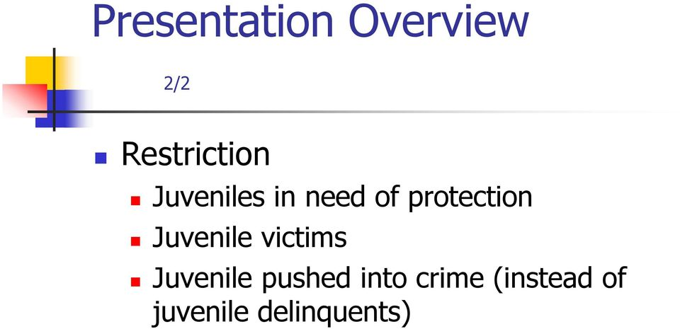 protection Juvenile victims Juvenile