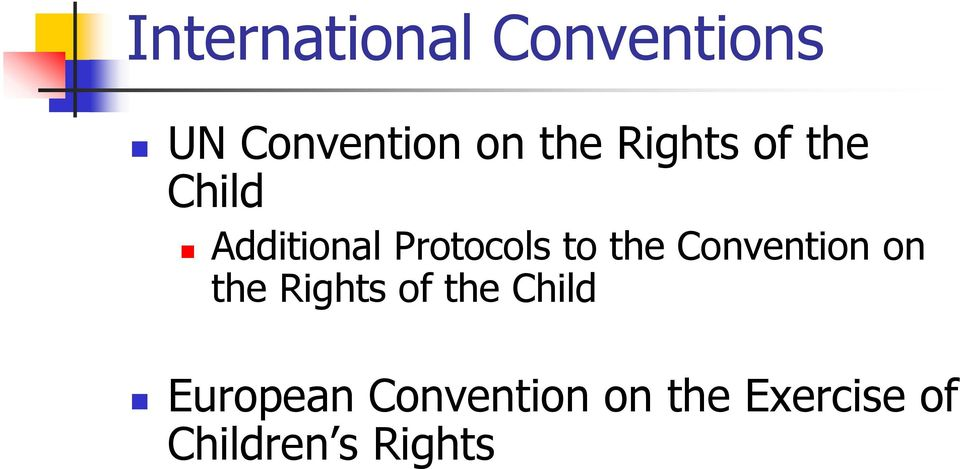 Convention on the Rights of the Child European