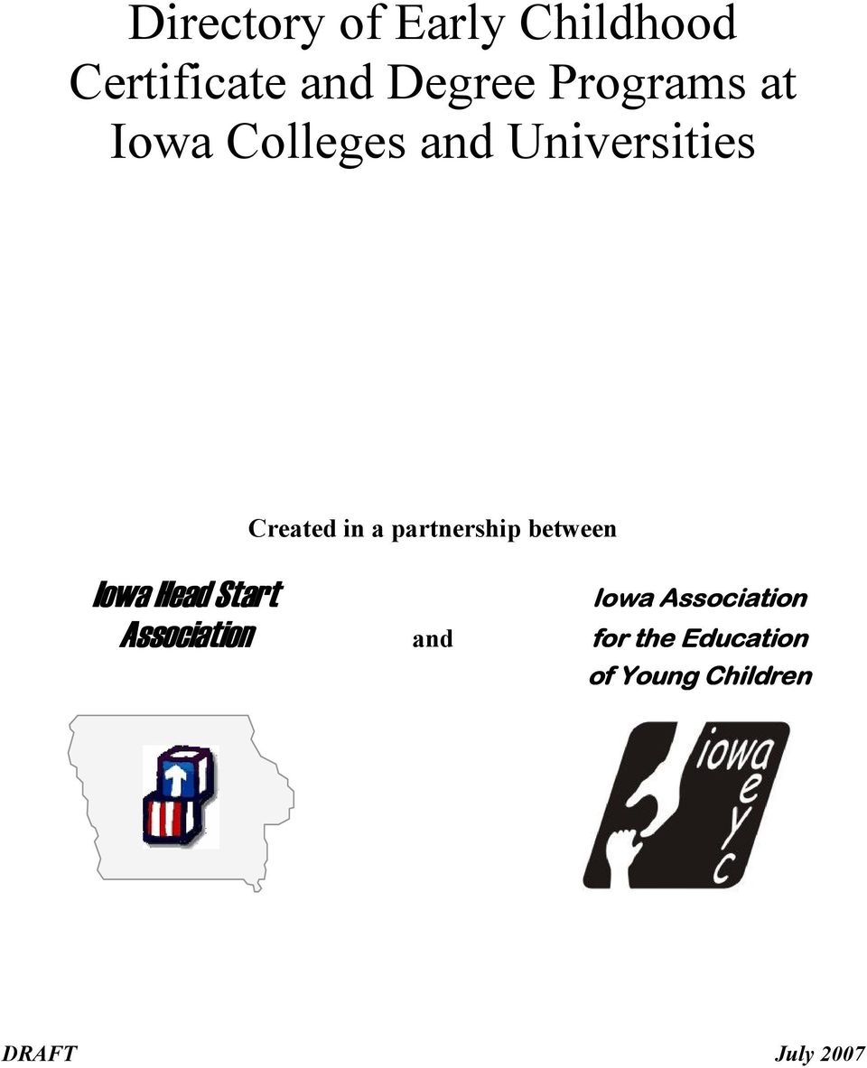 partnership between Iowa Head Start Association and for