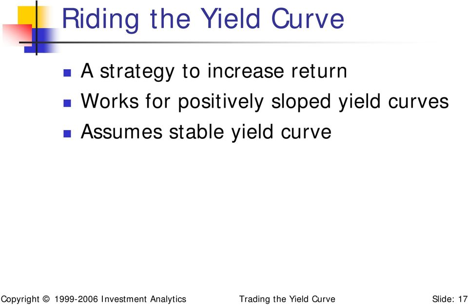 Assumes stable yield curve Copyright 1999-2006