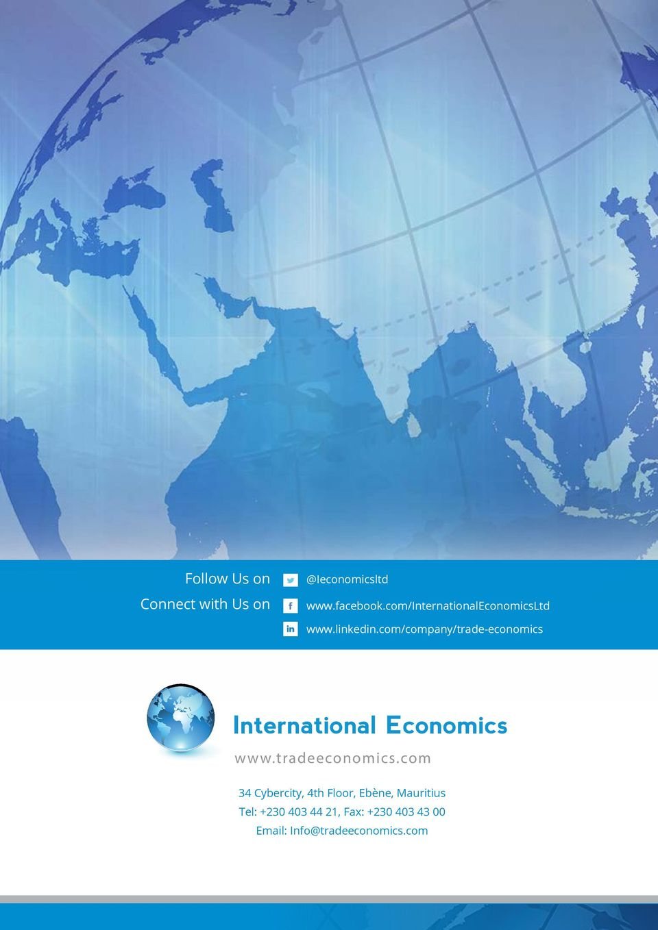 com/company/trade-economics International Economics www.tradeeconomics.