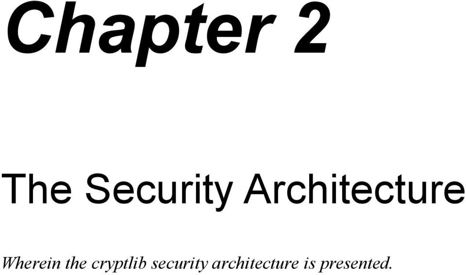 the cryptlib security