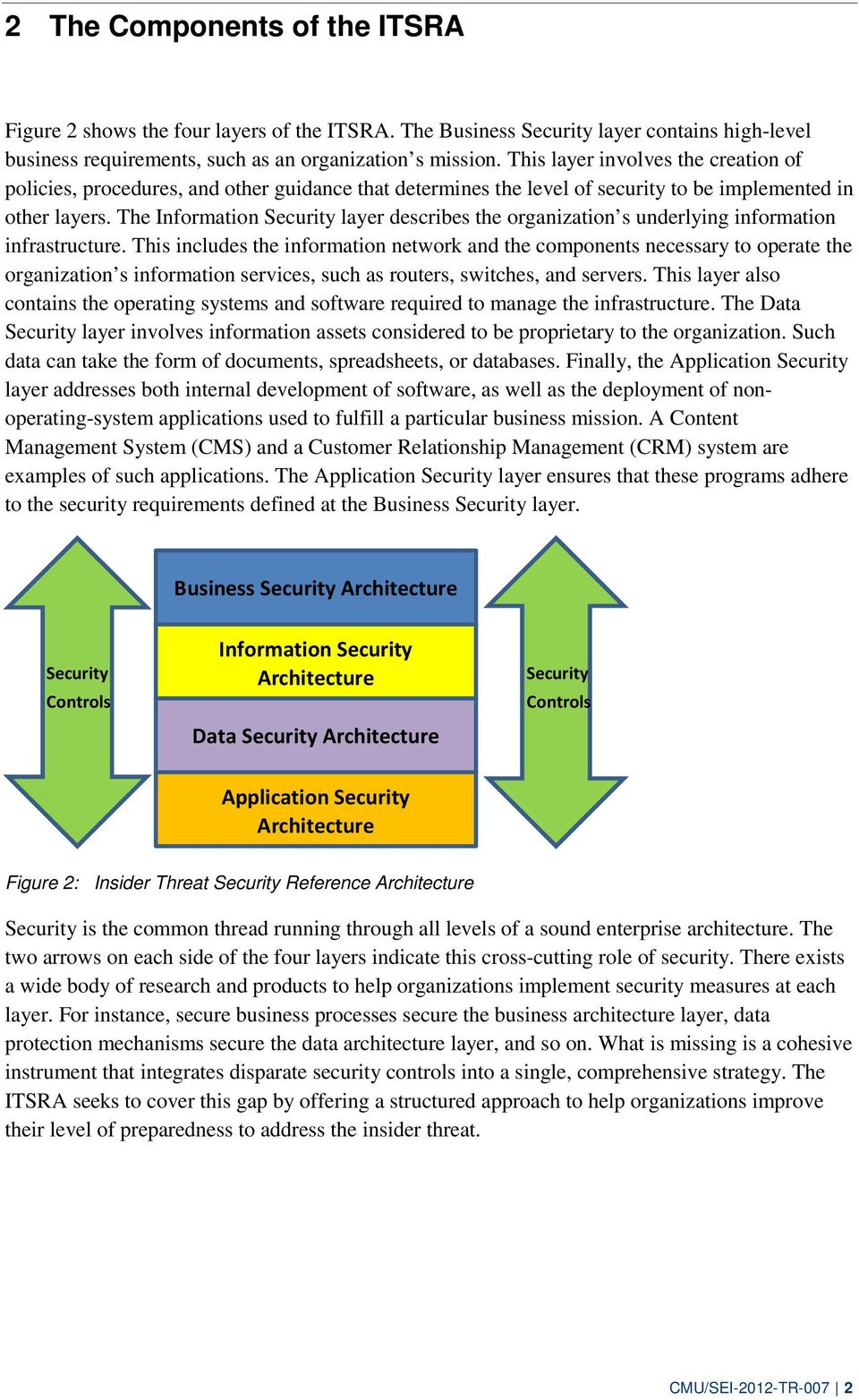 The Information Security layer describes the organization s underlying information infrastructure.