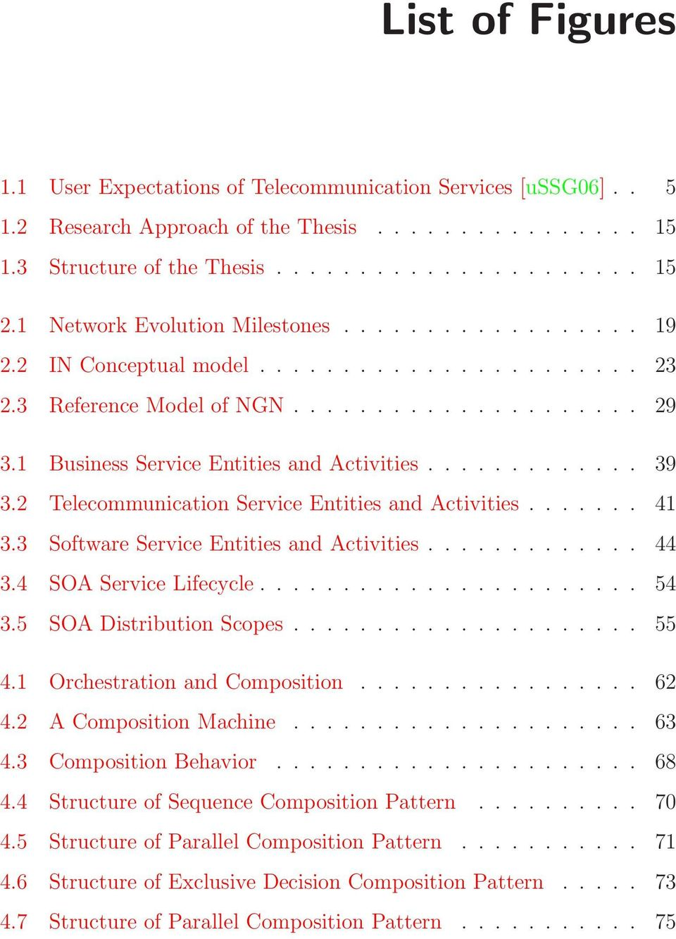 ............ 39 3.2 Telecommunication Service Entities and Activities....... 41 3.3 Software Service Entities and Activities............. 44 3.4 SOA Service Lifecycle....................... 54 3.
