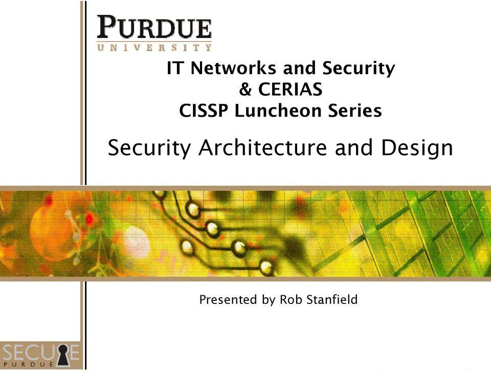 Security Architecture and